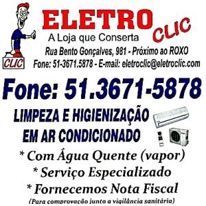 Eletro Clic - Rua Bento Gonçalves, 981, centro, Camaquã/RS