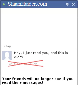 HOW TO : Disable Seen / Read Receipts on Facebook Messages and Chat