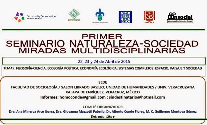 PRIMER SEMINARIO NATURALEZA-SOCIEDAD: MIRADAS MULTIDISCIPLINARIAS