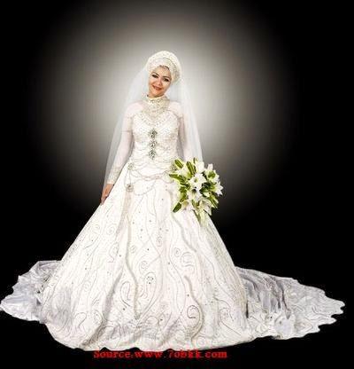 Hijab robe mariée