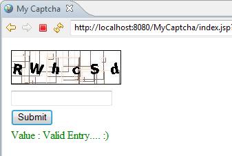 Creating Captcha using Java
