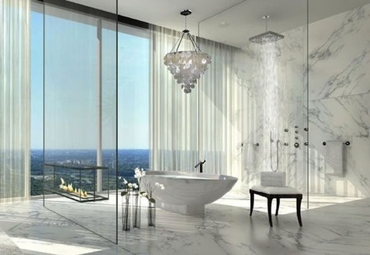 Ba os modernos con chimeneas ideas para decorar dise ar y mejorar tu casa - Extraordinary and relaxing contemporary bathroom designs ...