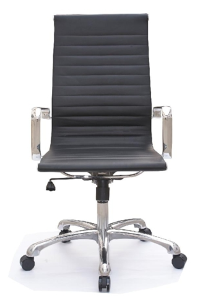 Joplin Series High Back Black Office Chair by Woodstock