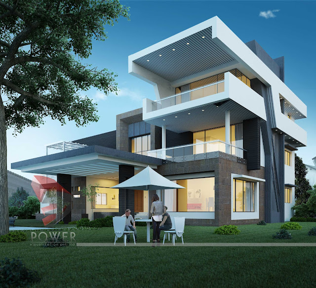 architectural 3d visualization,Ultra Modern Houses