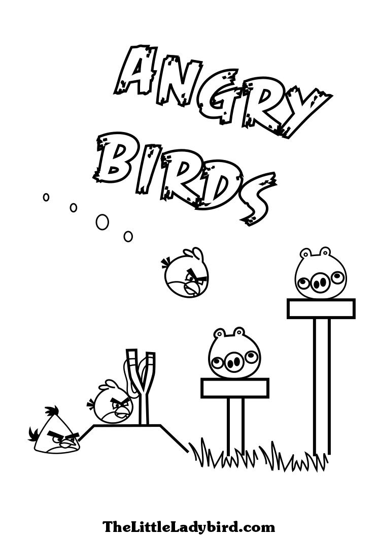 Angry Birds Birthday Coloring Pages Pictures to Pin on Pinterest