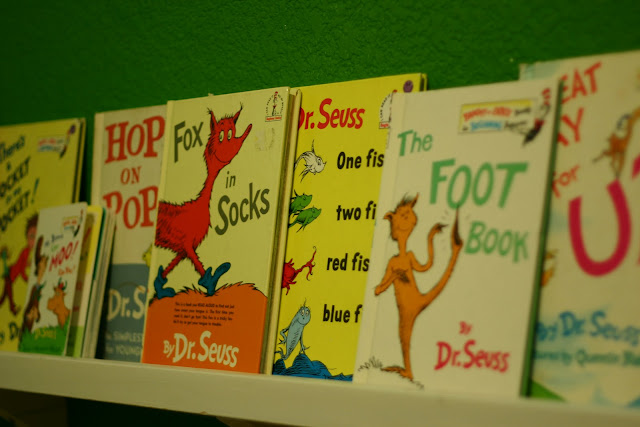 Posed collection of children's books
