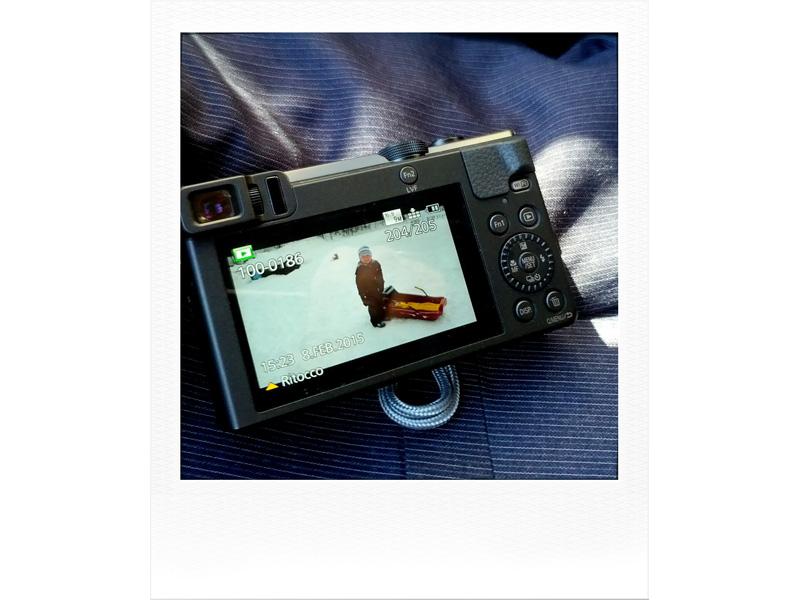 Il monitor della Panasonic TZ70 - ZS50