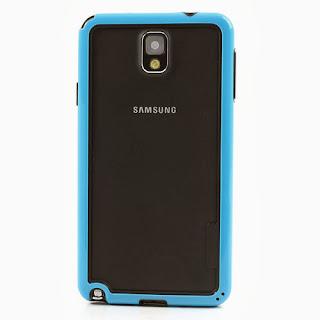 Hybrid Bumper Frame for Samsung Galaxy Note 3 III N9000 N9002 N9005 - Blue
