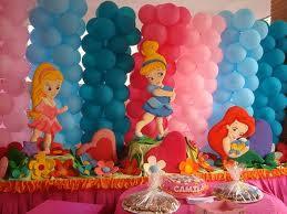 DECORACION CON GLOBOS CON LAS PRINCESITAS by decoracionesparafiestasinfantiles.blogspot.com