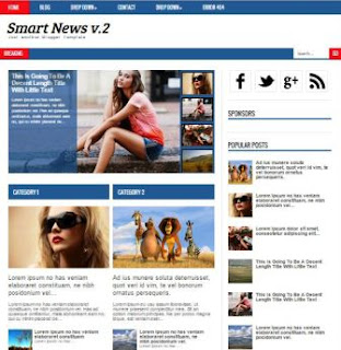 Smart News v.2 Responsive Blogger Template