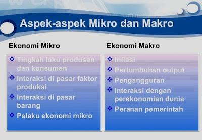 Perbedaan Ekonomi Mikro dan Ekonomi Makro