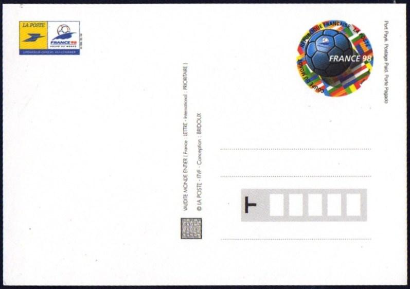 cartes postales du monde coupe du monde france 98 sur un pr t poster de france. Black Bedroom Furniture Sets. Home Design Ideas