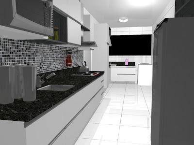 Cozinhas Planejadas em Preto e Branco