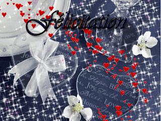 Cartes de felicitations de mariage gratuites