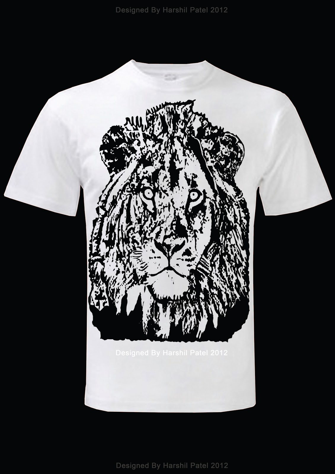 Harshil patel designs lion t shirt designs for How to copyright t shirt designs