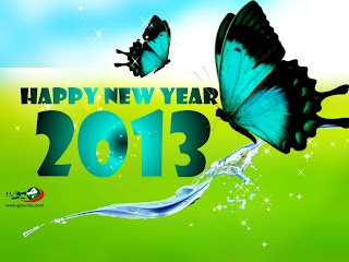 Happy New Year 2013 butterflies