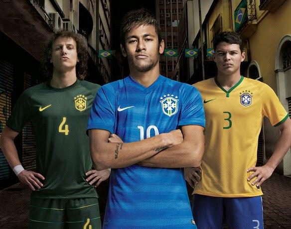 New Jersey Brazil Away World-Cup Kit 2014