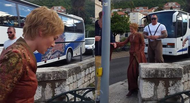 Cersei (Lena Headey) y La Montaña, Ser Gregor Clegane (Hafthór Júlíus Björnsson)