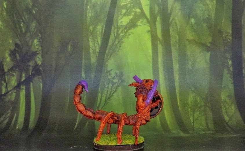 Runequest, Beast, man, Scorpion, man, conversion, oop, painted,
