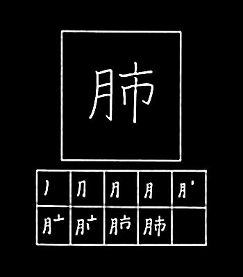 kanji paru-paru