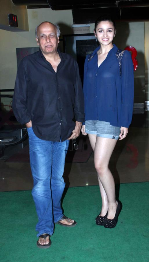 Alia Bhatt With Her Father Mahesh Bhatt