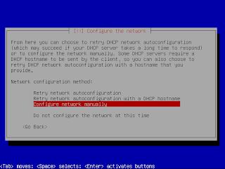 Konfigurasi jaringan manual
