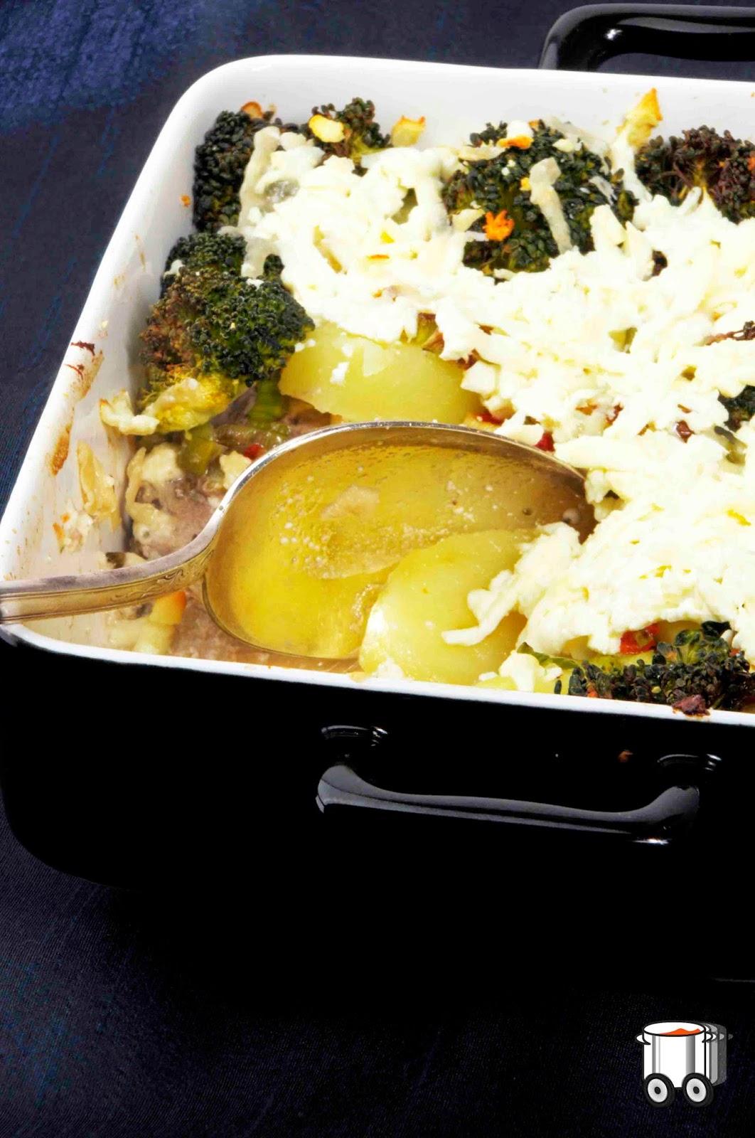 Szybko Tanio Smacznie - Zapiekanka z polędwiczek, ziemniaków i brokułów