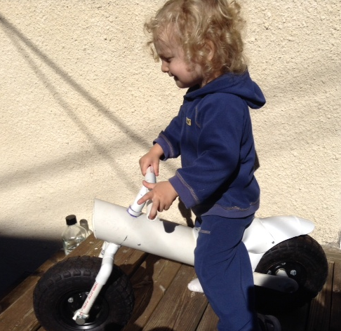 Upcycle Us: PVC pipes upcycled into a balance bike!