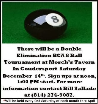 12-14 8 Ball Tournament At Mosch's