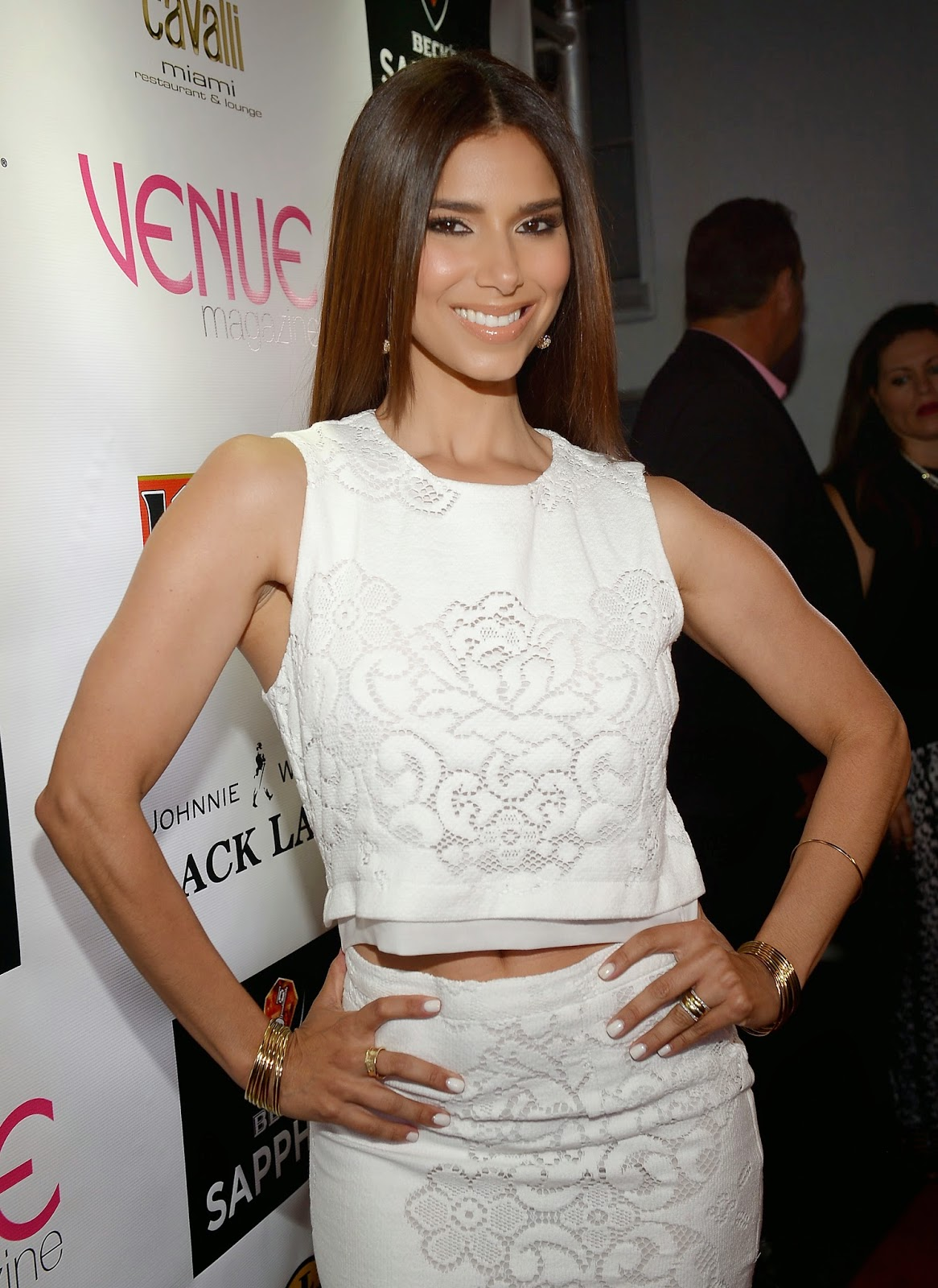 Roselyn Sanchez arrives for Venue Magazine July/August Cover Party at Cavalli Miami on July 16, 2014 in Miami Beach, Florida
