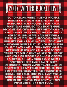 Winter Bucket List!!