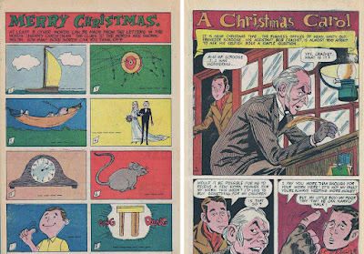 Holi-Day Surprise 55 filler page (Tallarico) and Christmas Carol splash (Fraccio/Tallarico)