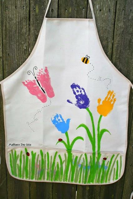 Ζωγραφιστή ποδιά για την Γιορτή της Μητέρας
