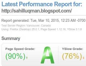 kecepatan blog SL