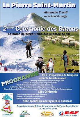 cérémonie des batons 2013 La Pierre Saint-Martin
