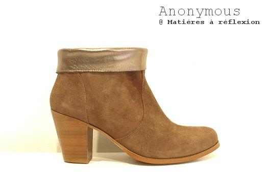 Boots en Daim et cuir métal Anonymous