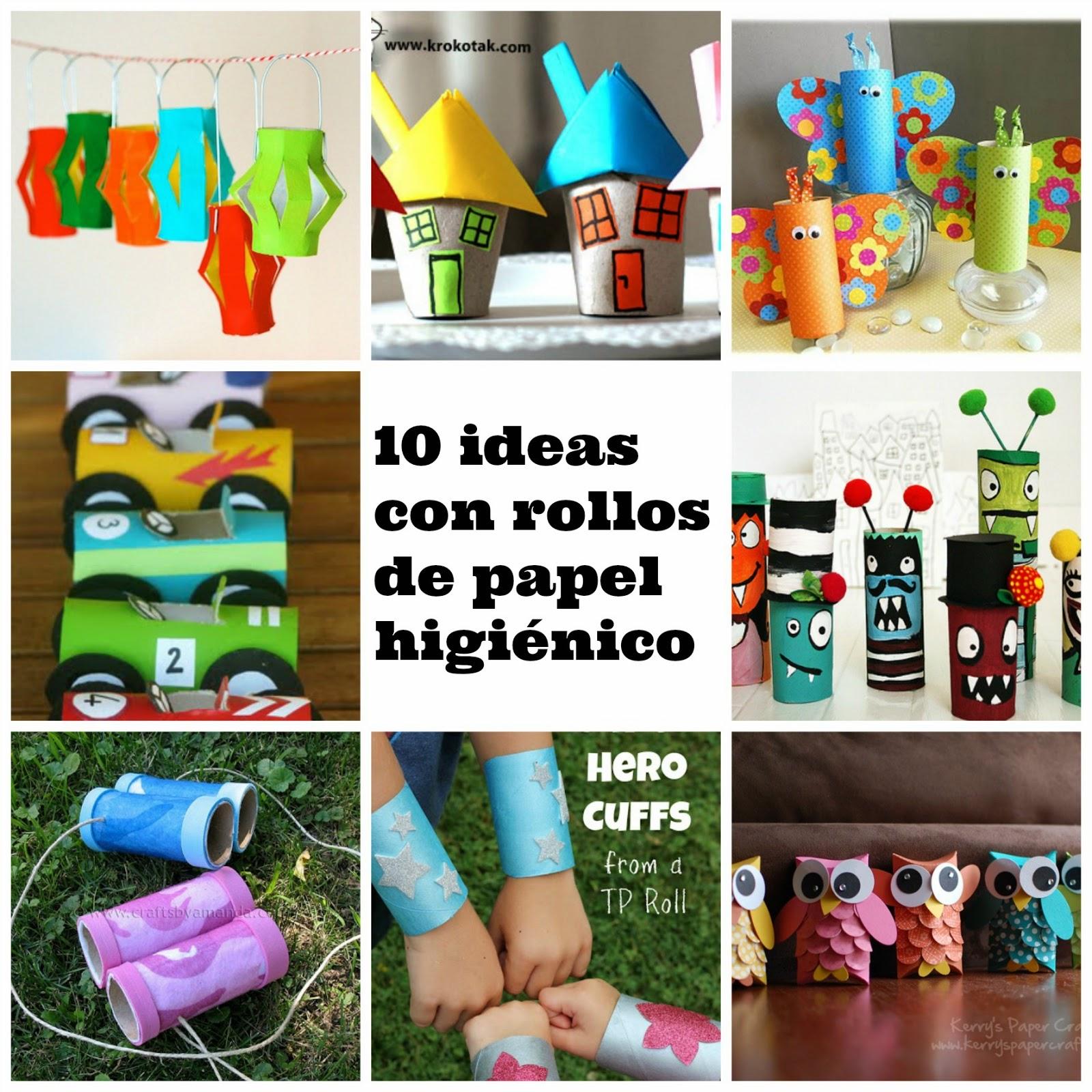 10 manualidades con el rollo de papel higi nico - Decoracion con rollos de papel higienico ...