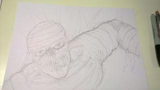 draw a mummy