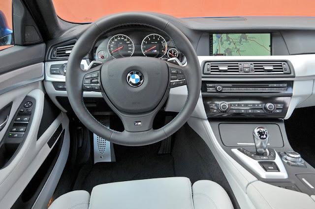 2012 BMW M5 Sedan Front Interior Rear View