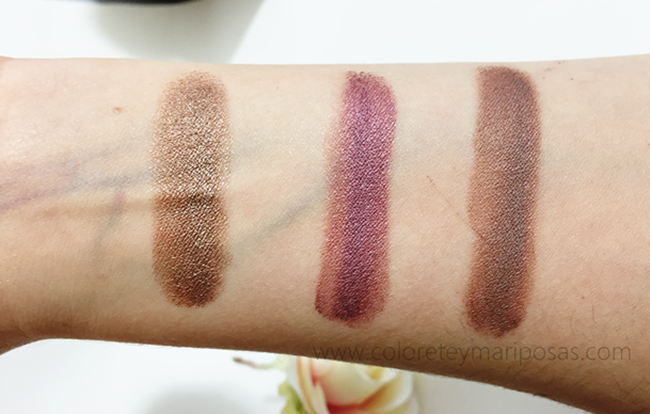 Swatches Crème Shadow de Nabla Cosmetics