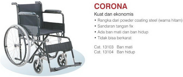 spesifikasi kursi roda corona