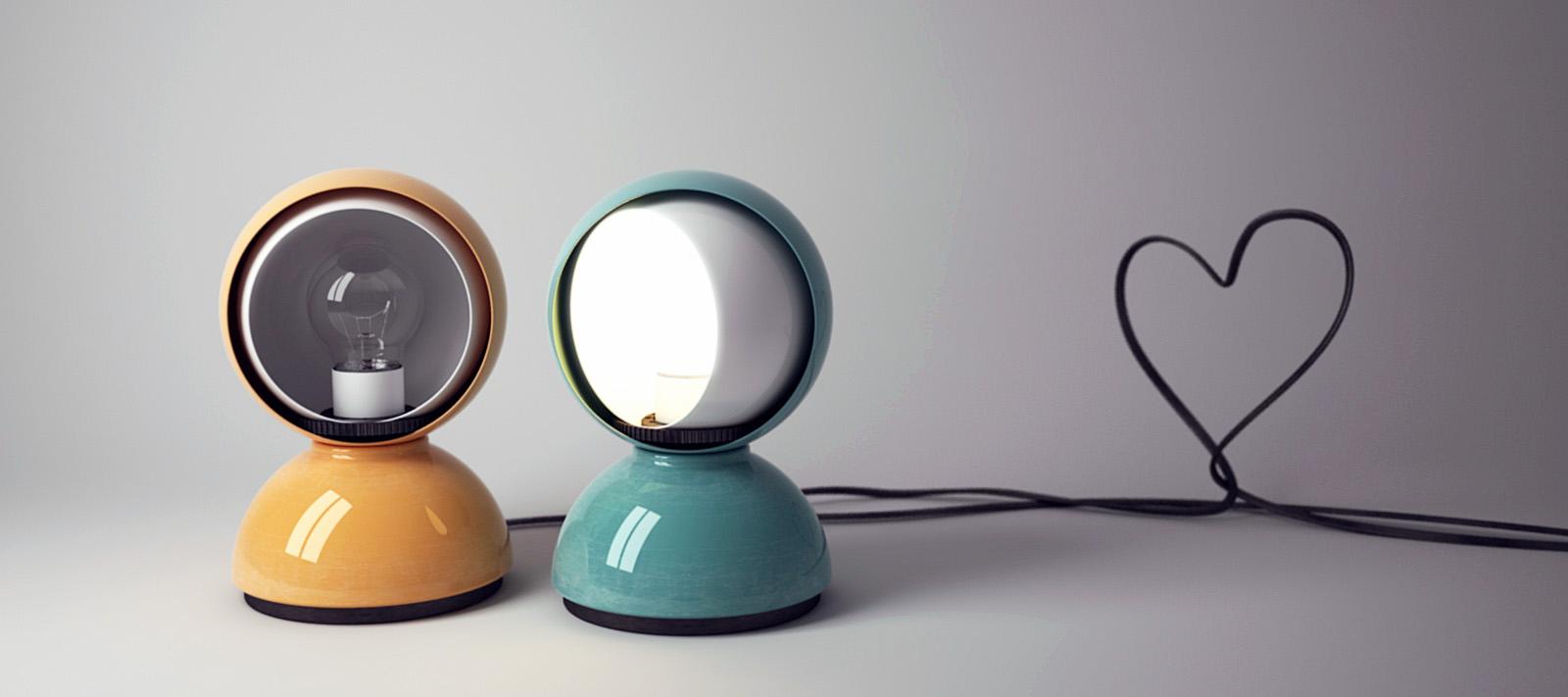 modern interior design: ECLISSE™ Lamp - White/Orange: Artemide ...