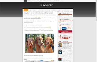 Страница сообщения в Blogger