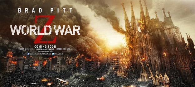 Banner Guerra Mundial Z Sagrada Familia