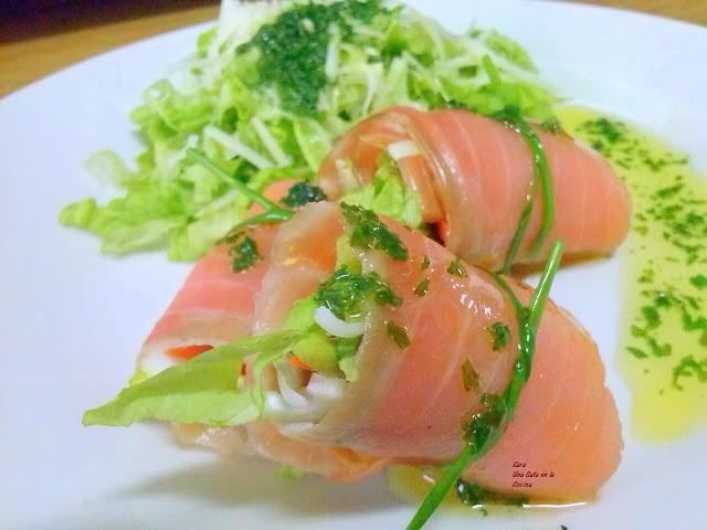Sushi De Salmón A La Occidental