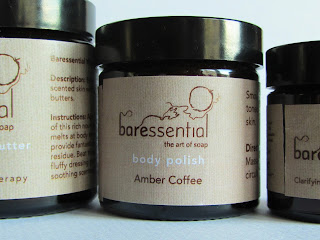 Baressential Face and Body Products grouping including Amber Coffee