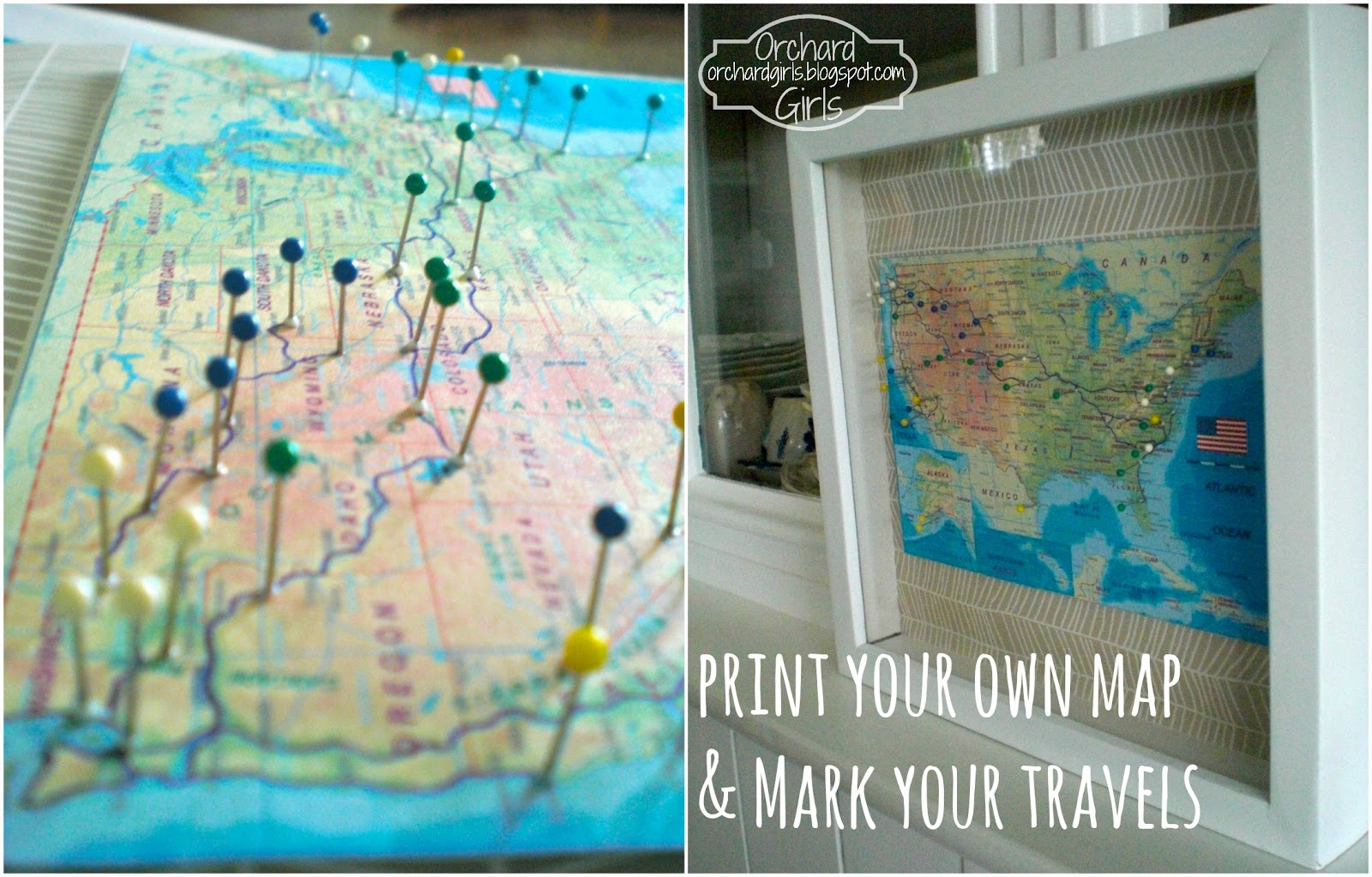 Orchard Girls Print Your Own Map and Mark Your Travels – Places I Ve Traveled Map