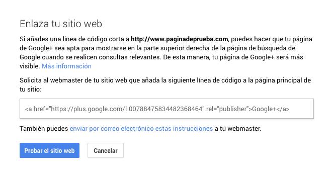 Cómo crear la página para tu blog en Google Plus