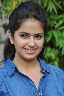 Acress Avika Gor Pictures in Pink Tight Jeans at Uyyala Jampala Movie Press Meet 0009.jpg