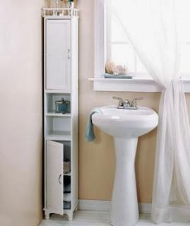 Universal design bathroom storage